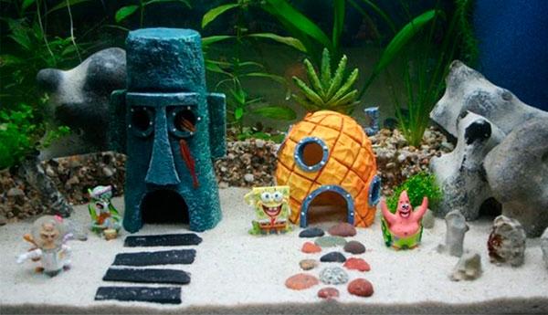 Выбираем декорации для аквариума