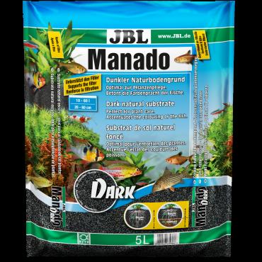 Аквариумный субстрат для растений JBL Manado Dark 5 л черный (67036)