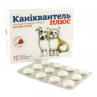 Антигельминтик для собак и кошек Каниквантель Плюс 1 таблетка