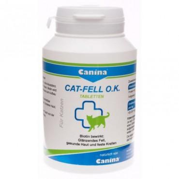 Биотин для шерсти кошек Canina Cat-Fell O.K. 100 табл (201525 AD)