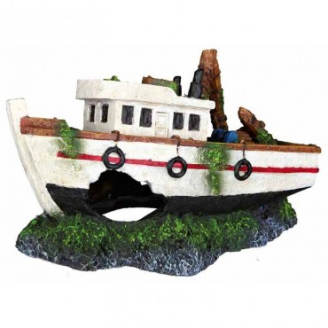 Декор для аквариума Trixie Затонувшая лодка, 15 см (87818)