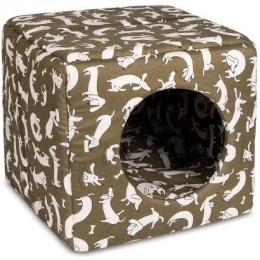 Домик-лежак для собак Природа Cube 40 см/40 см /37 см (коричневый) (PR241888)