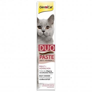 Лакомство для кошек GimCat Anti-Hairball Duo Paste Chicken + Malt 50 г (для выведения шерсти) (G-417233)