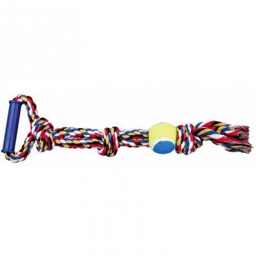 Игровой канат с мячом и пластиковой ручкой для собак Trixie (3280)