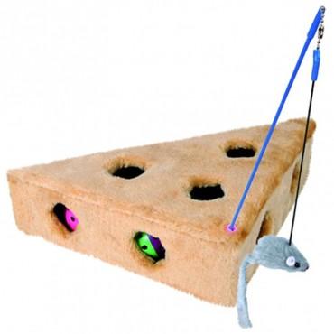 Игрушка для кошек сыр меховой с игрушками Trixie (4505)