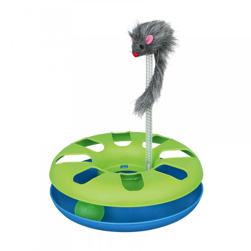 Игрушка для кошек Trixie Трек игровой с мышкой Crazy Circle d=24 см, h=29 см (4135)