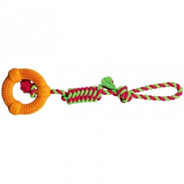 Игрушка для собак Trixie Denta Fun Кольцо на канате (33191)