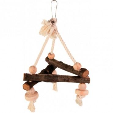Игрушка-треугольник деревянная для попугаев Trixie (5882)
