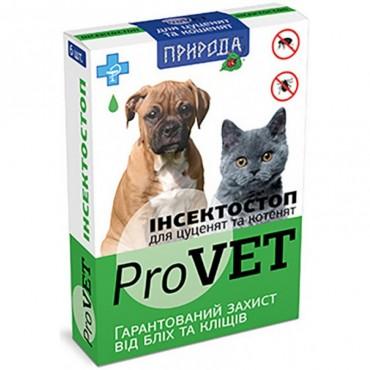 Капли от блох и клещей для котят и щенков ProVET Инсектостоп 6 пипеток (PR020027)