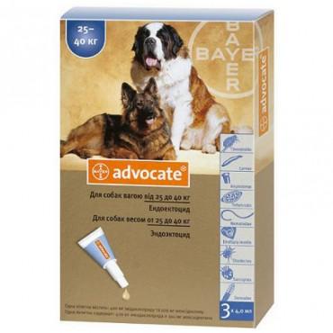 Капли от блох и клещей для собак более 25 кг Bayer Advocate, 3 пипетки