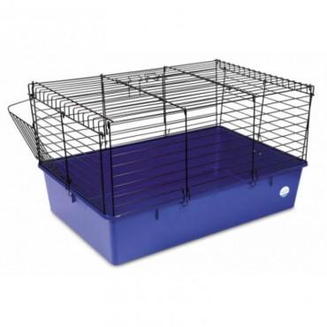 Клетка для кроликов Природа черная/синяя (PR241507)