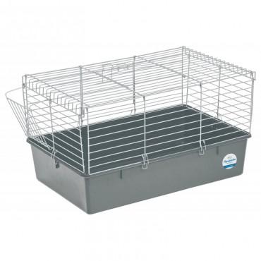 Клетка для кроликов Природа хром/серая (PR241517)