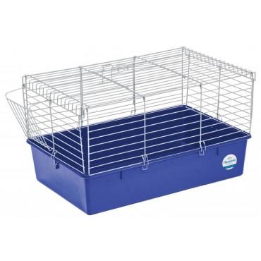 Клетка для кроликов Природа хром/синяя (PR241508)
