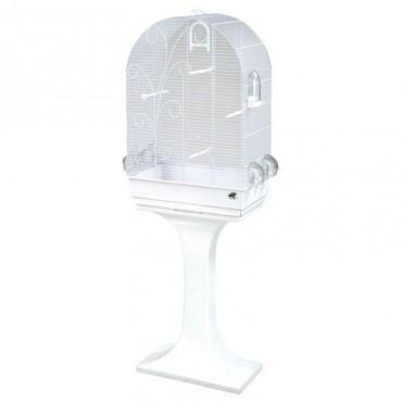 Клетка для птиц FOP Evita белая с подставкой (10380010)