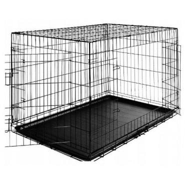 Клетка для собак эмаль черная на 2 двери OrienPet