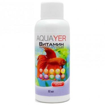 Комплекс витаминов для аквариумных рыб Aquayer, 60 мл