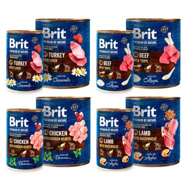 Консервы для собак Brit Premium by Nature