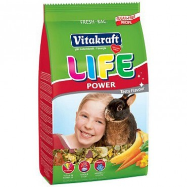 Корм для кроликов Vitakraft Life с бананом 600 гр (25119)