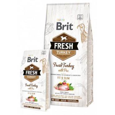 Корм для малоактивных собак Brit Fresh Turkey with Pea Adult Fit and Slim