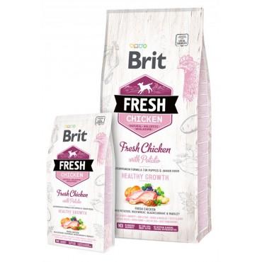 Корм для щенков всех пород Brit Fresh Chicken/Potato Puppy