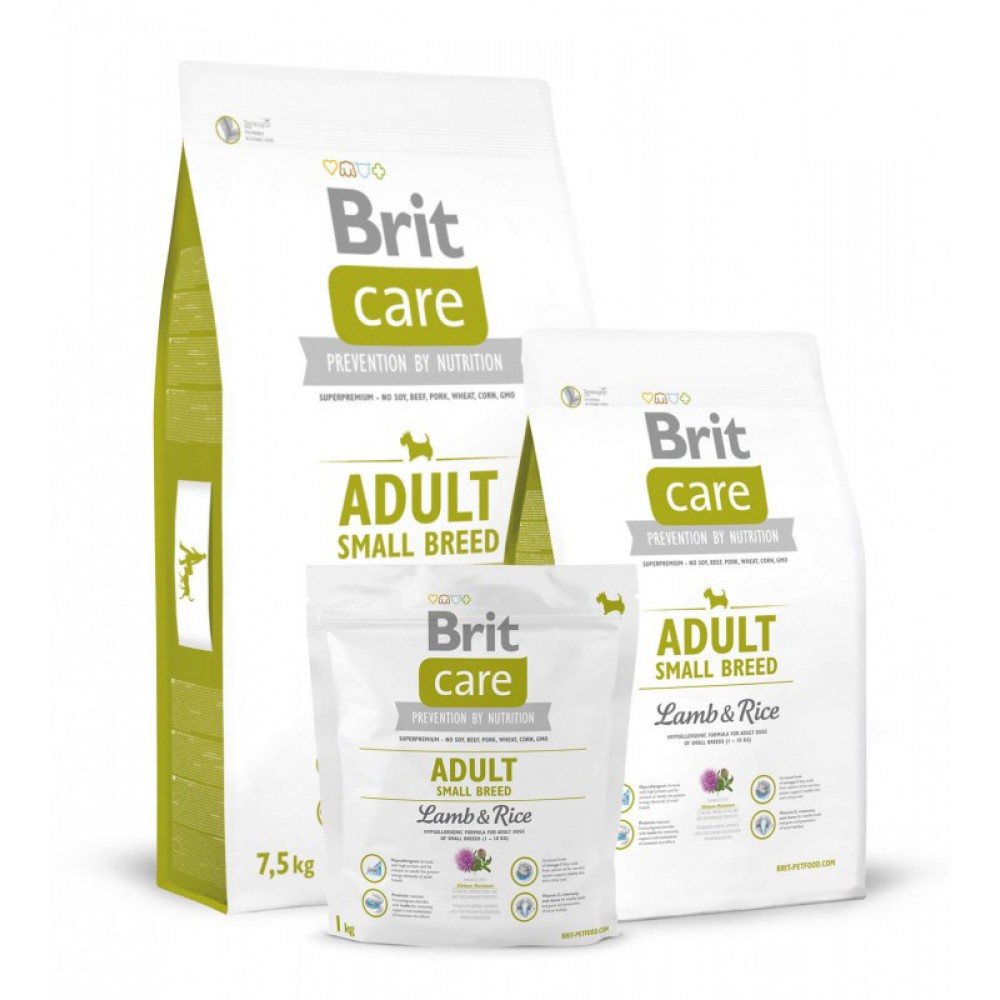 Корм для собак Brit Care Adult Small Breed Lamb and Rice