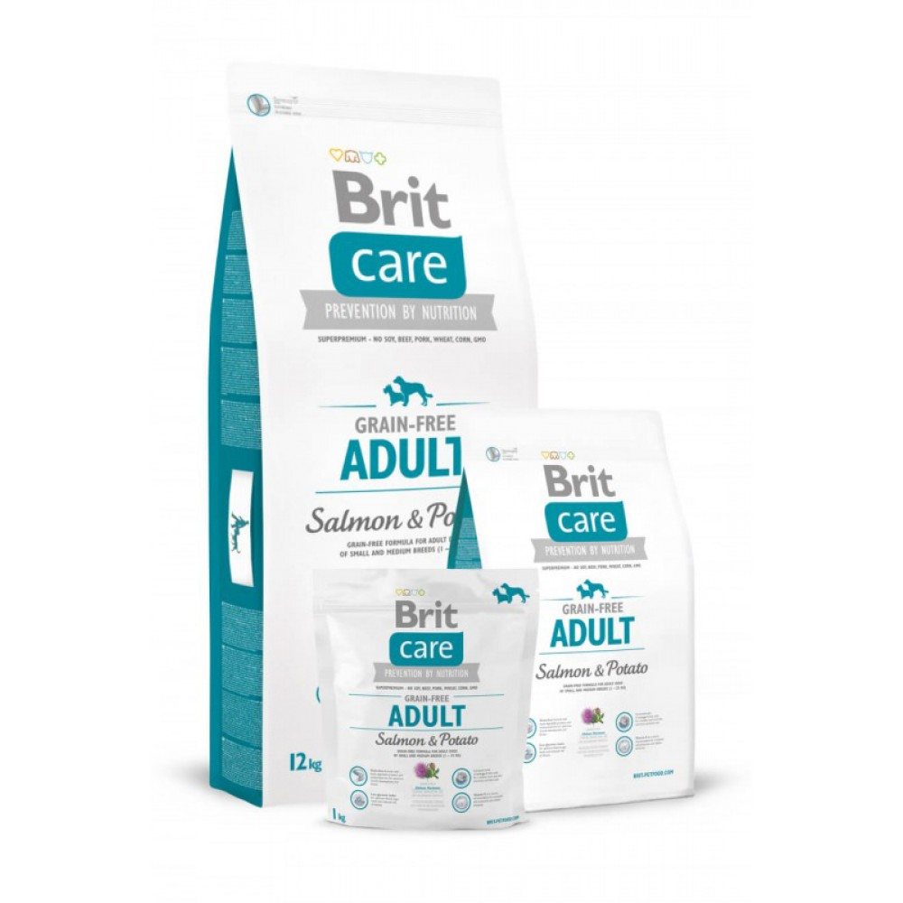 Корм для собак Brit Care GF Adult Salmon and Potato