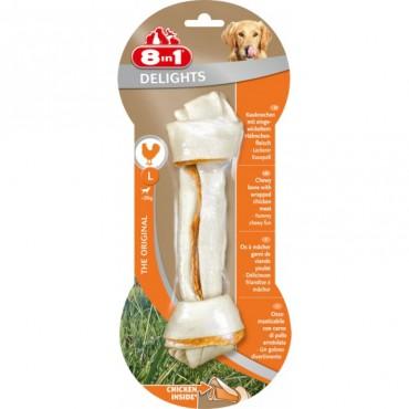 Кость для собак с куриным мясом 8 in 1 Delights Bone L, 20 см (660317 /102472)