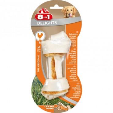 Кость для собак с куриным мясом 8 in 1 Delights Bone M, 14 см (660314 /102434)