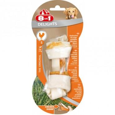 Кость для собак с куриным мясом 8 in 1 Delights Bone S, 11 см (660310 /102403)