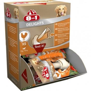 Кость для собак с куриным мясом 8 in 1 Delights Bone XS, 7 см (30 шт) (660446 /108924)