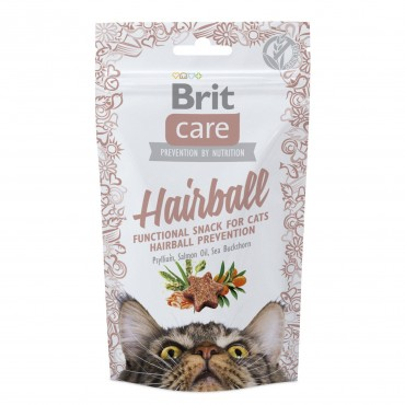 Лакомство для кошек Brit Care Functional Snack Hairball 50 г (для выведения шерсти) (111265/1395)