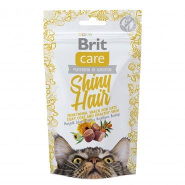 Лакомство для кошек Brit Care Functional Snack Shiny Hair 50 г (для кожи и шерсти) (111264/1388)