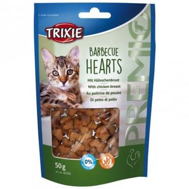 Лакомство для кошки Trixie Premio Barbecue Hearts курица, 50 гр (42703)