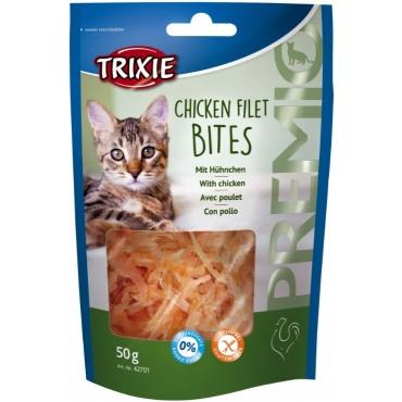Лакомство для кошки Trixie Premio Chicken Filet Bites филе куриное, 50 гр (42701)
