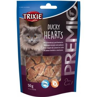 Лакомство для кошки Trixie Premio Hearts утка/минтай, 50 гр (42705)