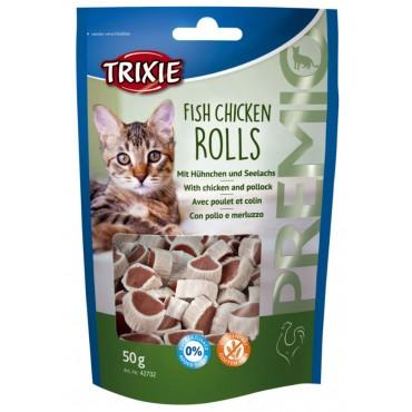 Лакомство для кошки Trixie Premio Rolls курица/минтай, 50 гр (42702)