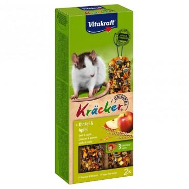Лакомство для крыс Vitakraft Kracker спельта и яблоко, 112 г/2 шт (25140)