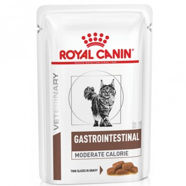 Лечебные консервы для кошек Royal Canin GASTRO-INTESTINAL MODERATE CALORIE CAT Pouches 0,085 кг