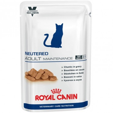 Лечебные консервы для кошек Royal Canin NEUTERED ADULT MAINTENANCE Pouches 0,1 кг