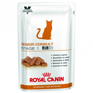 Лечебные консервы для кошек Royal Canin SENIOR CONSULT STAGE 1 Pouches 0,1 кг