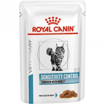 Лечебные консервы для кошек Royal Canin SENSITIVITY CONTROL CHICKEN CAT Pouches 0,085