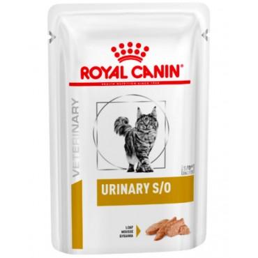 Лечебные консервы для кошек Royal Canin URINARY S/O CAT pouches 0,085 кг (паштет)
