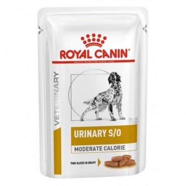 Лечебные консервы для собак Royal Canin URINARY S/O MODERATE CALORIE DOG pouches 0,1 кг (кусочки в соусе)