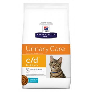 Лечебный сухой корм для кошек при мочекаменной болезни Hill's PD Feline C/D Ocean Fish