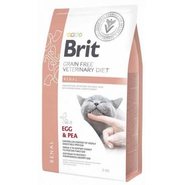 Лечебный сухой корм для кошек при почечной недостаточности Brit GF Veterinary Diets Cat Renal
