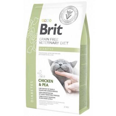 Лечебный сухой корм для кошек с диабетом Brit GF Veterinary Diets Cat Diabets
