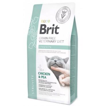 Лечебный сухой корм для кошек с заболеваниями мочевых путей Brit GF Veterinary Diets Cat Struvite