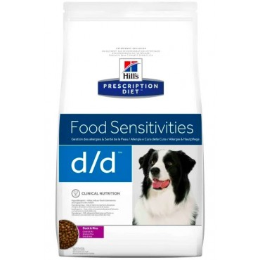 Лечебный сухой корм для собак Hill's Prescription Diet Canine D/D Duck and Rice