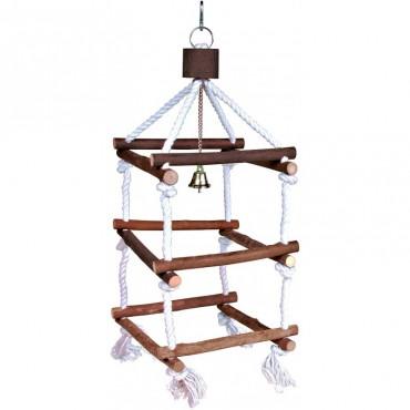 Лесенка для птиц Trixie деревянная на канате 34 см (5886)