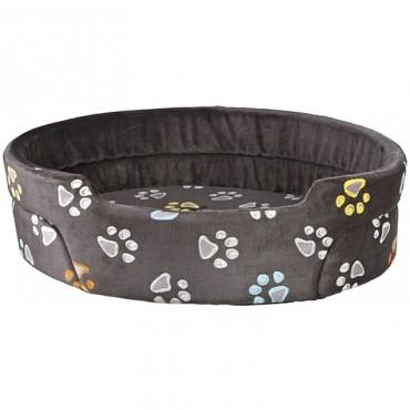 Лежак для собак и кошек Trixie Jimmy серый с лапками